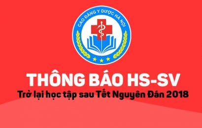 [THÔNG BÁO] Sinh viên trở lại học tập sau Tết Nguyên Đán Mậu Tuất 2018