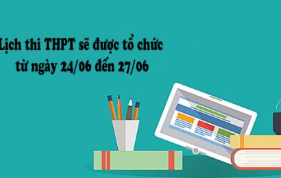 Công bố lịch thi và cụm thi THPT Quốc gia năm 2019