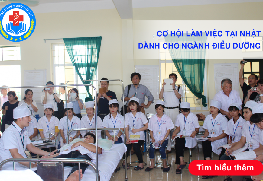 Cơ hội làm việc tại Nhật Bản dành cho ngành Cao đẳng Điều dưỡng