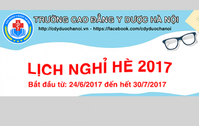 Thông báo lịch nghỉ hè năm học 2016 – 2017