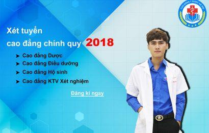 Thông tin tuyển sinh cao đẳng y dược chính quy  2018