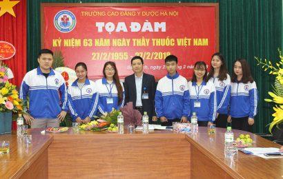 Trường Cao đẳng Y Dược Hà Nội tổ chức Tọa đàm kỷ niệm 63 năm ngày Thầy thuốc Việt Nam (27/2/1955 – 27/2/2018)
