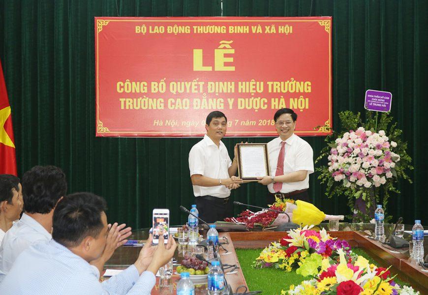 Lễ công bố Quyết định bổ nhiệm chức danh Hiệu trưởng -Trường Cao đẳng Y Dược Hà Nội