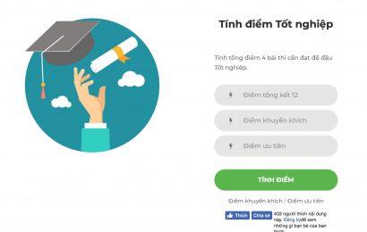 Website tự tính điểm thi THPT 2019 xem có đậu không