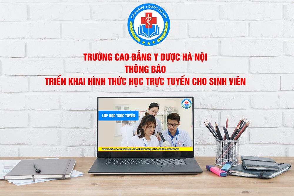 Thông báo triển khai hình thức học trực tuyến cho sinh viên