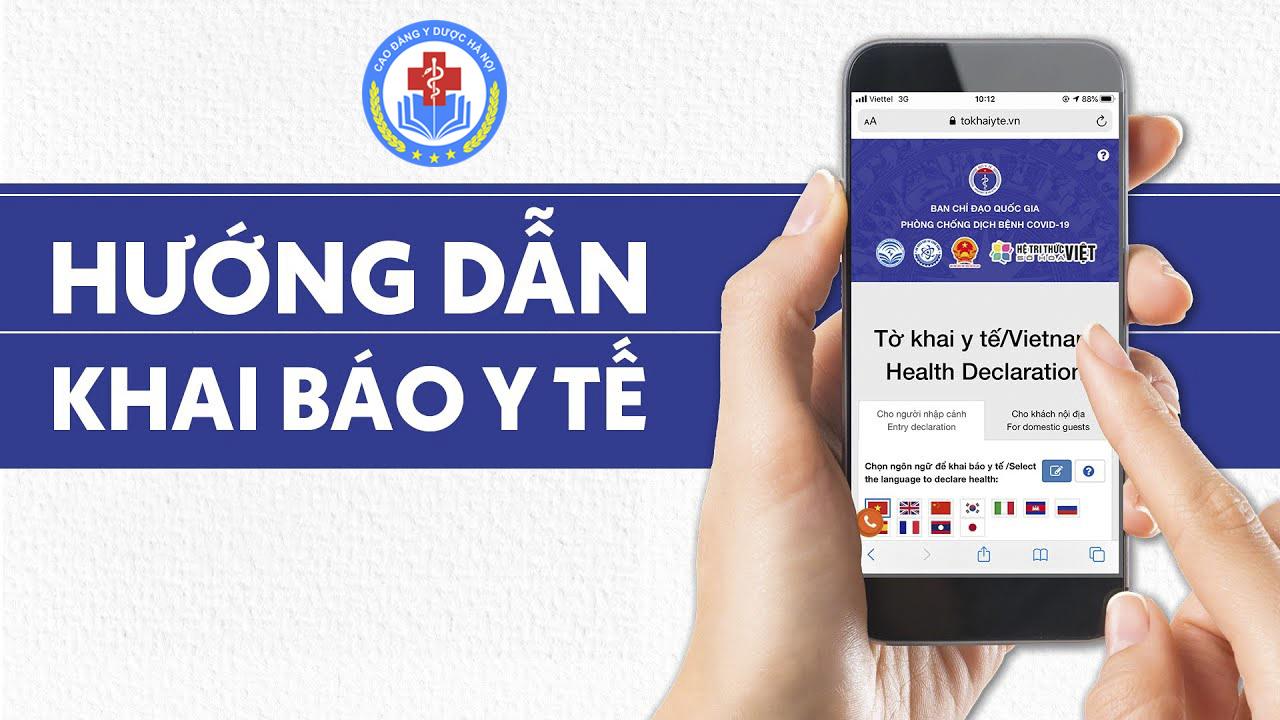 Hướng dẫn khai báo y tế – Trường Cao đẳng Y Dược Hà Nội.